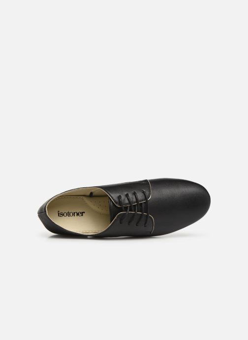 Lace-up shoes Isotoner Derby Black view from the left