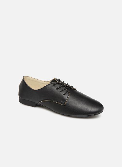 Snøresko Isotoner Derby Sort detaljeret billede af skoene