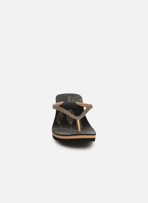 Tongs Isotoner Tong rêve Noir vue portées chaussures