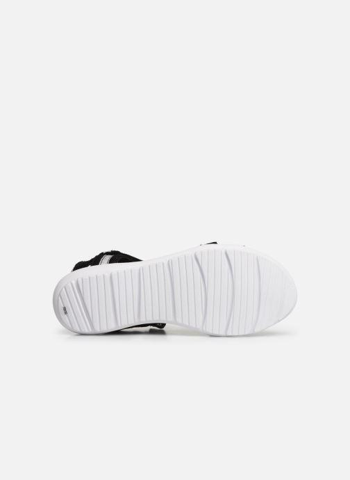Sandales et nu-pieds Isotoner Sandale sport confort Noir vue haut
