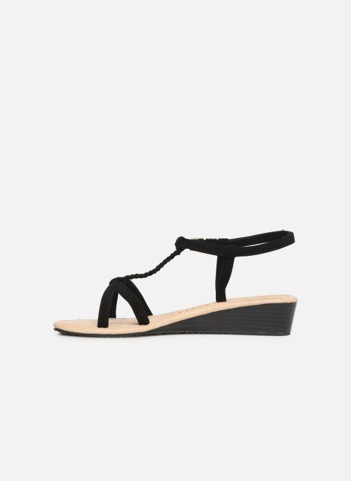 Sandals Isotoner Sandale tresse Black front view