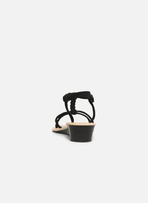 Sandali e scarpe aperte Isotoner Sandale tresse Nero immagine destra