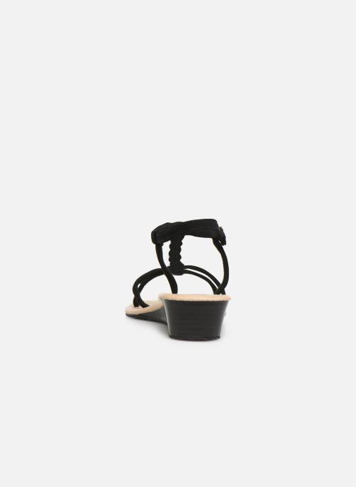 Sandale Sandales Et Noir pieds Nu Tresse Isotoner tChQrsd