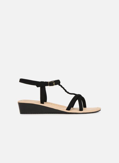 Sandals Isotoner Sandale tresse Black back view
