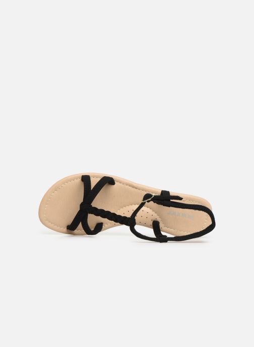 Sandals Isotoner Sandale tresse Black view from the left