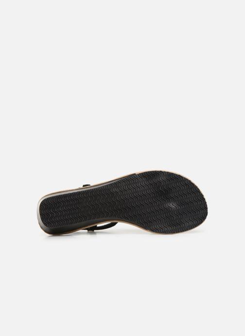 Sandali e scarpe aperte Isotoner Sandale tresse Nero immagine dall'alto