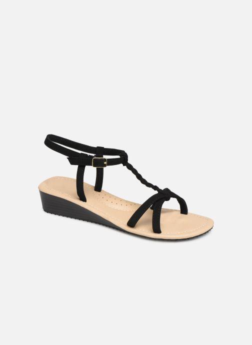Sandals Isotoner Sandale tresse Black detailed view/ Pair view