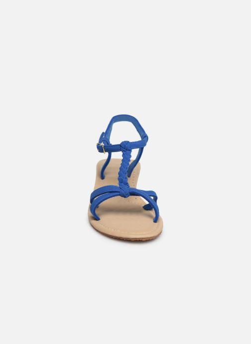 Sandales et nu-pieds Isotoner Sandale tresse Bleu vue portées chaussures