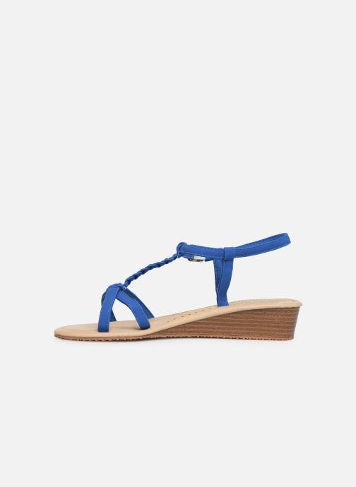 Sandales et nu-pieds Isotoner Sandale tresse Bleu vue face