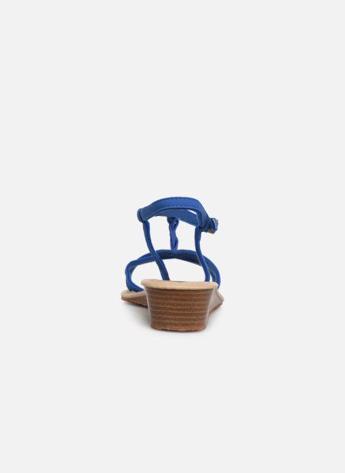 Sandales et nu-pieds Isotoner Sandale tresse Bleu vue droite