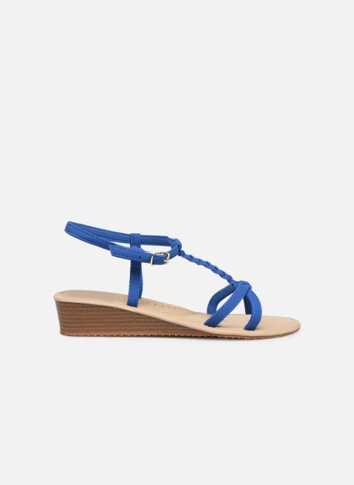 Sandales et nu-pieds Isotoner Sandale tresse Bleu vue derrière