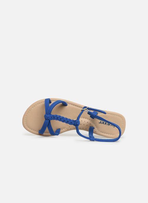 Sandales et nu-pieds Isotoner Sandale tresse Bleu vue gauche