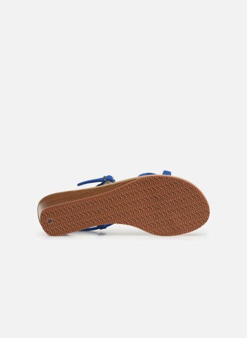 Sandales et nu-pieds Isotoner Sandale tresse Bleu vue haut