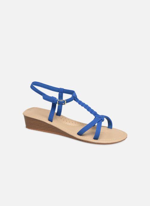 Sandales et nu-pieds Isotoner Sandale tresse Bleu vue détail/paire