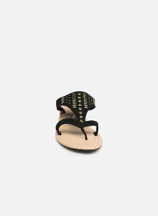 Mules et sabots Isotoner Tong rivets Noir vue portées chaussures
