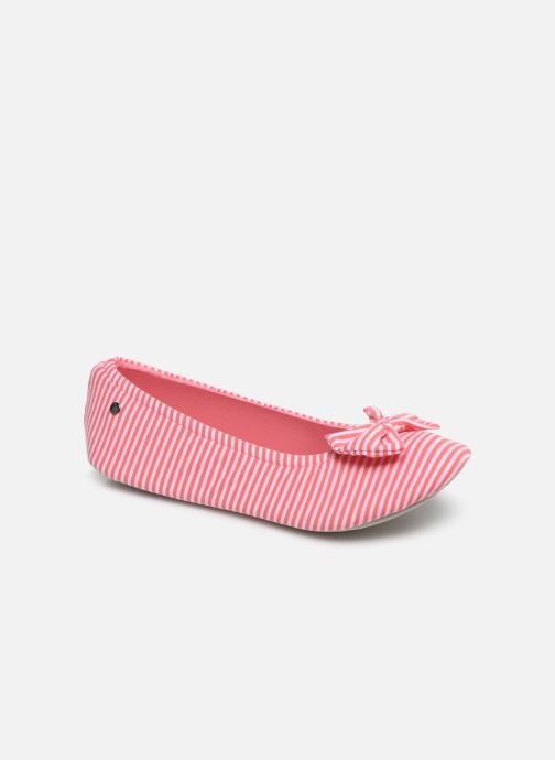 Slippers Isotoner Ballerine grand nœud Pink detailed view/ Pair view