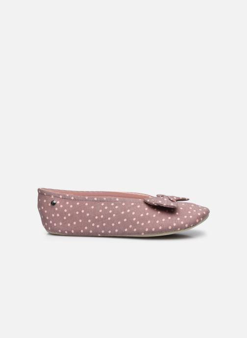Pantofole Isotoner Ballerine grand nœud Grigio immagine posteriore