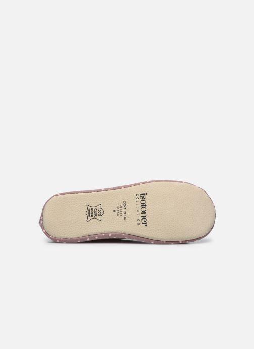 Pantofole Isotoner Ballerine grand nœud Grigio immagine dall'alto