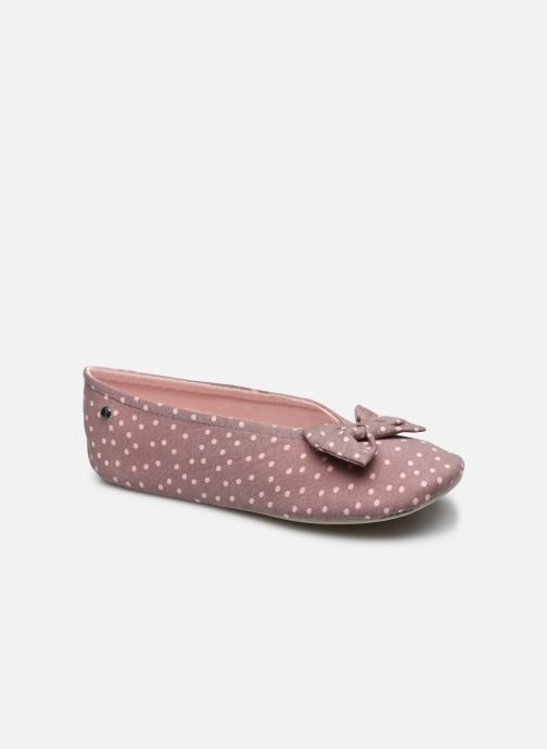 Pantofole Isotoner Ballerine grand nœud Grigio vedi dettaglio/paio
