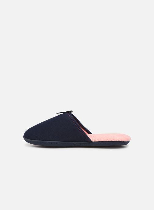 Pantoffels Isotoner Mule jersey semelle ergonomique Blauw voorkant