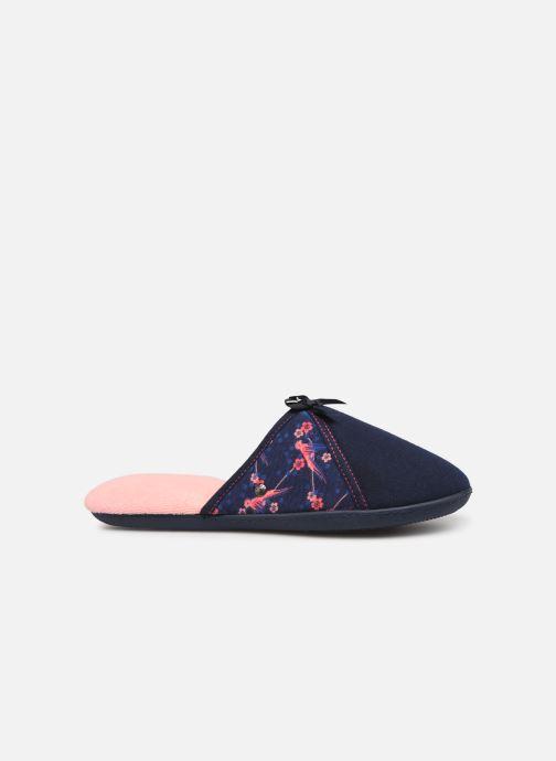 Pantoffels Isotoner Mule jersey semelle ergonomique Blauw achterkant