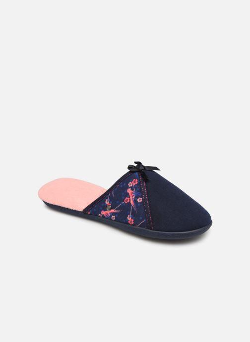 Pantoffels Isotoner Mule jersey semelle ergonomique Blauw detail