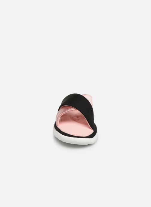 Chaussons Isotoner Sandale jersey semelle ergonomique ZEN flex Rose vue portées chaussures