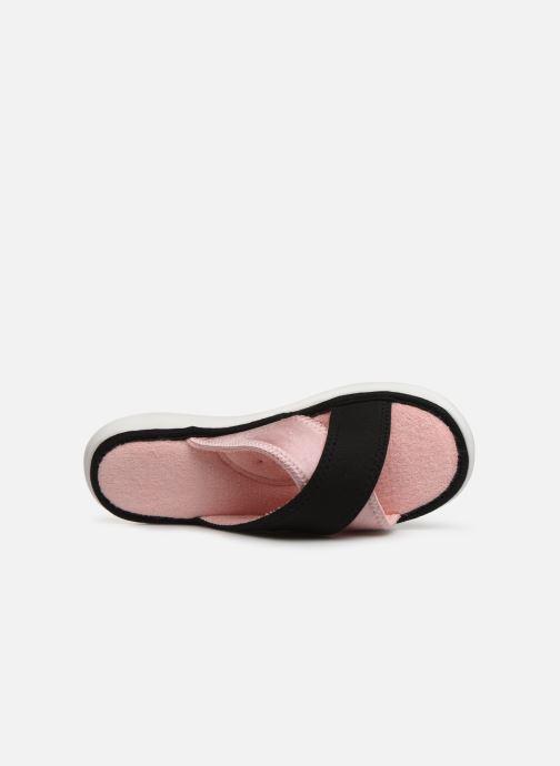Chaussons Isotoner Sandale jersey semelle ergonomique ZEN flex Rose vue gauche
