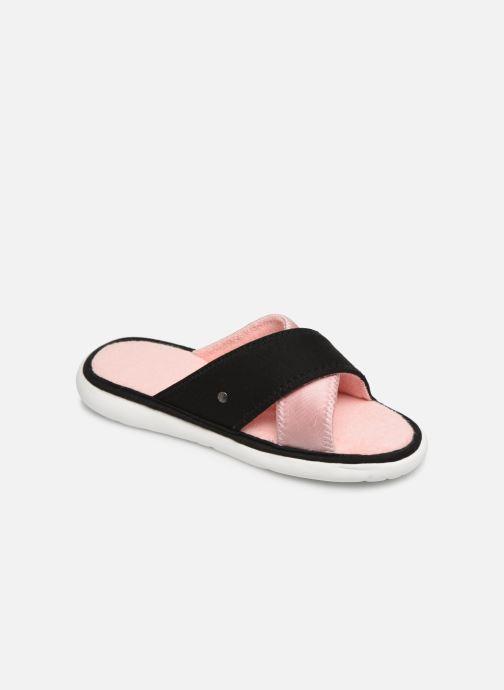 Chaussons Isotoner Sandale jersey semelle ergonomique ZEN flex Rose vue détail/paire