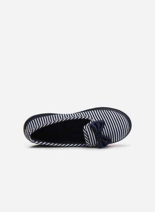 Chaussons Isotoner Slipper jersey semelle ergonomique ZEN flex Bleu vue gauche