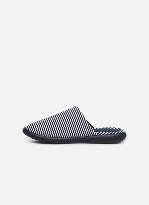 Pantoffels Isotoner Mule jersey semelle ergonomique ZEN flex Blauw voorkant