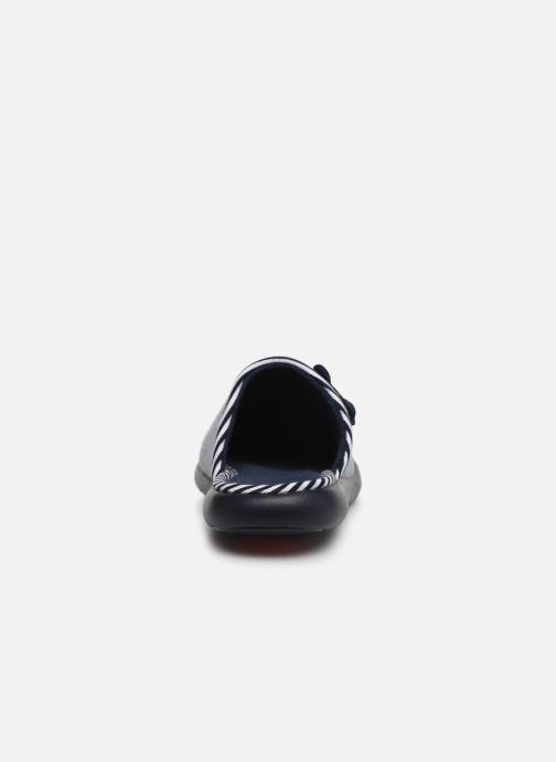Slippers Isotoner Mule jersey semelle ergonomique ZEN flex Blue view from the right