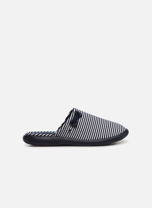 Slippers Isotoner Mule jersey semelle ergonomique ZEN flex Blue back view