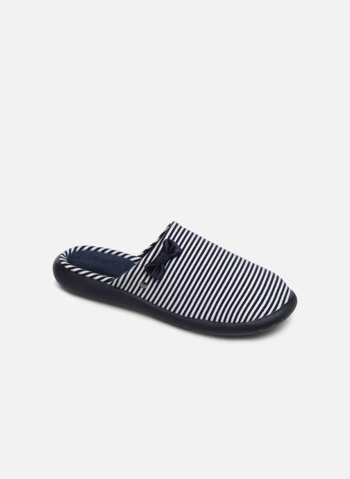 Pantoffels Isotoner Mule jersey semelle ergonomique ZEN flex Blauw detail