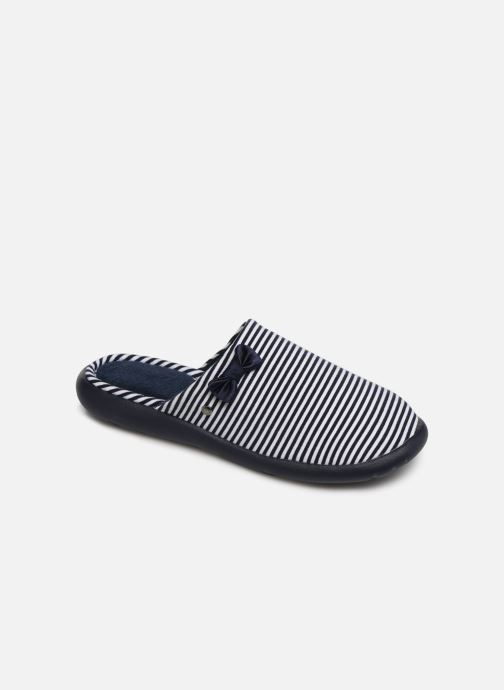 Slippers Isotoner Mule jersey semelle ergonomique ZEN flex Blue detailed view/ Pair view