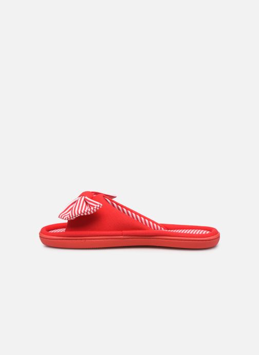Chaussons Isotoner Sandale jersey Rouge vue face