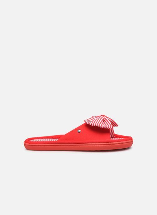 Chaussons Isotoner Sandale jersey Rouge vue derrière