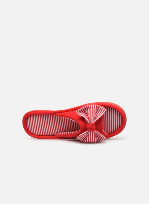 Chaussons Isotoner Sandale jersey Rouge vue gauche