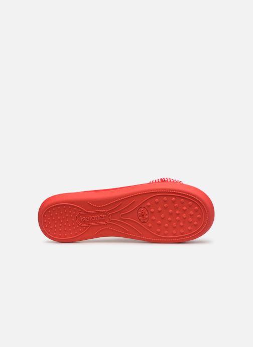 Chaussons Isotoner Sandale jersey Rouge vue haut