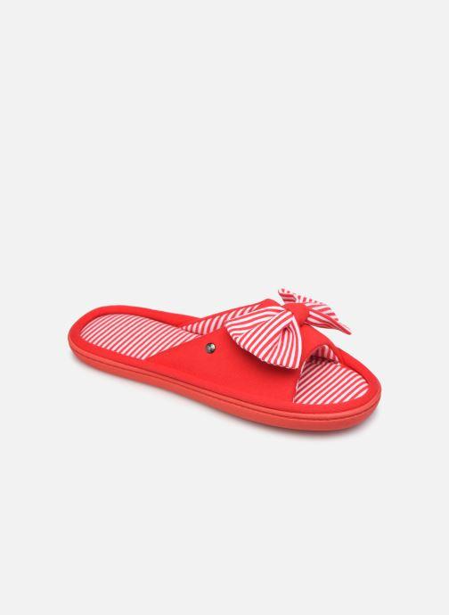 Chaussons Isotoner Sandale jersey Rouge vue détail/paire