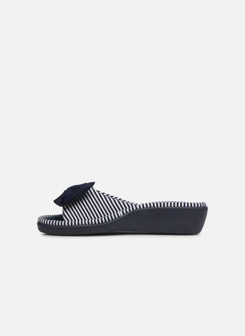 Pantoffels Isotoner Sandale jersey Blauw voorkant