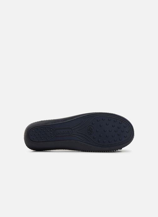 Chaussons Isotoner Sandale jersey Bleu vue haut
