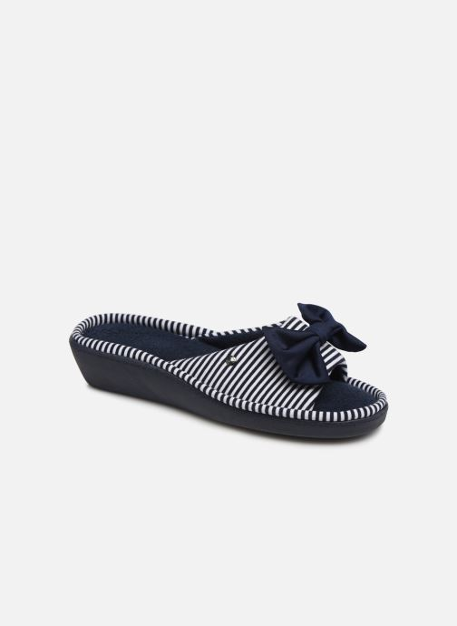 Hausschuhe Jersey 373116 blau Isotoner Sandale Ftq4SS