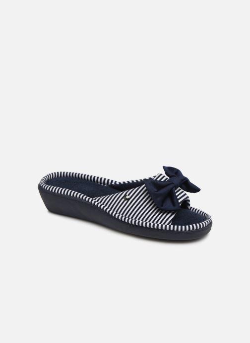 Chaussons Isotoner Sandale jersey Bleu vue détail/paire