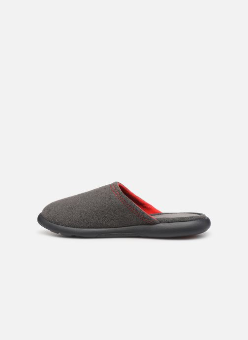 Slippers Isotoner Mule polaire ergonomique ZEN flex Grey front view