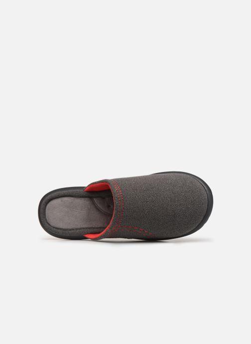 Chaussons Isotoner Mule polaire ergonomique ZEN flex Gris vue gauche