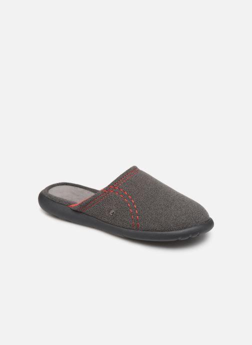 Slippers Isotoner Mule polaire ergonomique ZEN flex Grey detailed view/ Pair view