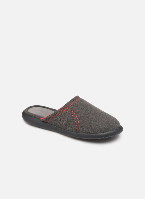 Slippers Isotoner Mule polaire ergonomique ZEN flex Grey detailed view/ Pair view