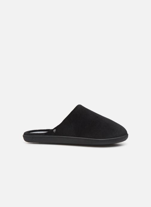 Pantoffels Isotoner Mule velours semelle ergonomique H Zwart achterkant