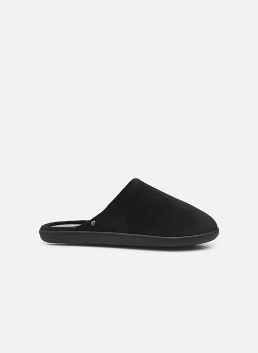 Slippers Isotoner Mule velours semelle ergonomique H Black back view
